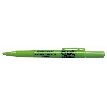 Centropen zvýrazňovač shine zelený 8732 1ks
