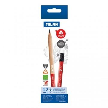 Ceruzka MILAN trojhranná MAXI HB s gumou