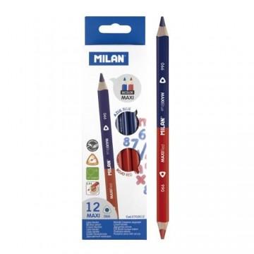 Ceruzka MILAN trojhranná MAXI obojstranná červeno-modrá