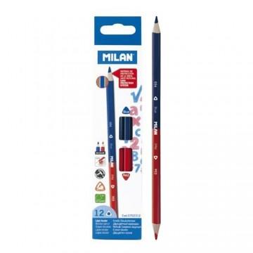 Ceruzka MILAN trojhranná obojstranná červeno-modrá
