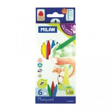 Pastelky MILAN plastické 6 ks