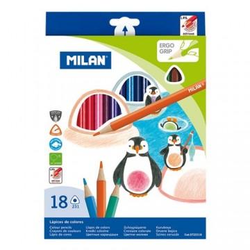 Pastelky MILAN trojhranné 18 ks