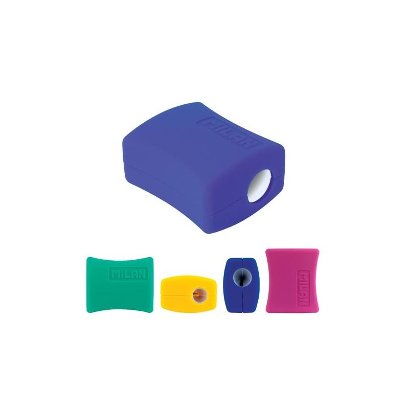Strúhadlo plastové MILAN Double na dve ceruzky s boxom