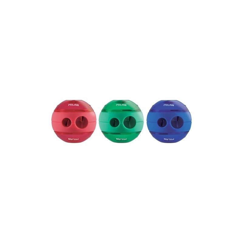 Strúhadlo plastové MILAN Sphere dvojité s nádobkou
