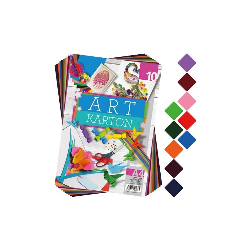 Blok farebného papiera - výkres ART CARTON A4 250g (10 ks) mix 1