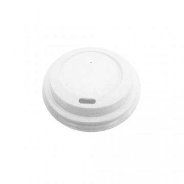 Viečko vypuklé biele pre papierové poháre O 73mm /100ks/