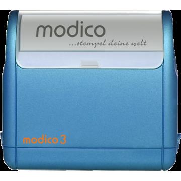Modico 3 modré teleso pečiatky