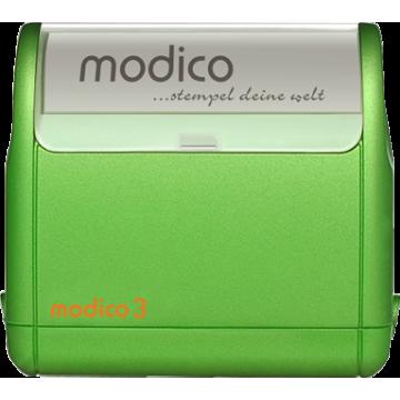 Modico 3 zelené teleso pečiatky