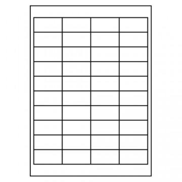 Etikety PRINT A4, 48,5x25,4 - 40 etikiet, biele