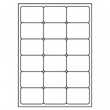 Etikety PRINT A4, 68x46,8 - 18 etikiet, biele