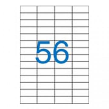 Etikety VICTORIA A4, 52,5x21,2 - 56 etikiet, biele