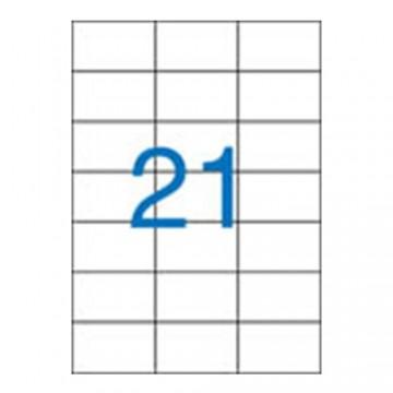 Etikety VICTORIA A4, 70x42,4 - 21 etikiet, biele