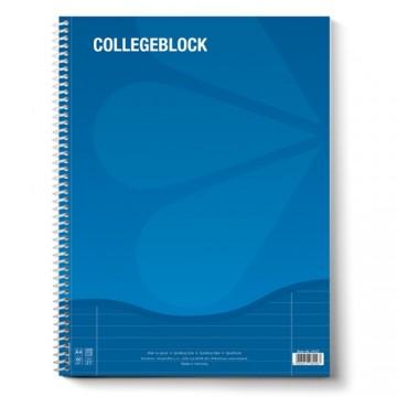Blok A4 College s bočnou špirálou linajkový 80 L