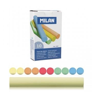 Krieda MILAN guľatá farebná 10 ks znížená prašnosť
