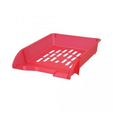 Zásuvka odkladacia A4 TTO - transparentná červená