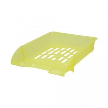 Zásuvka odkladacia A4 TTO - transparentná žltá