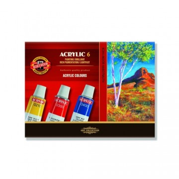 Farby akrylové KOH-I-NOOR 16 ml, sada 6 ks