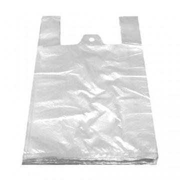 Tašky 4 kg, HDPE biele (blokované) 25 + 12 x 45 cm, 100 ks