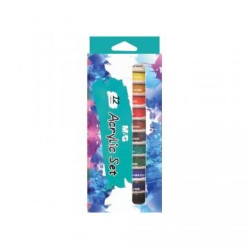 Farby akrylové M&G 12 ml - sada 12 ks