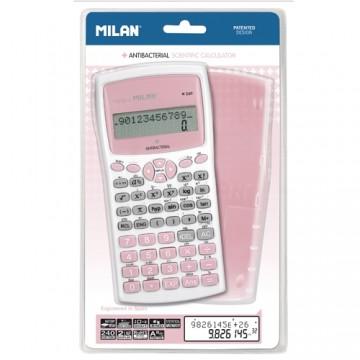 Kalkulačky MILAN M240 Antibacterial - vedecká 10-miestna ružová