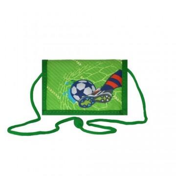 Detská peňaženka Football Green
