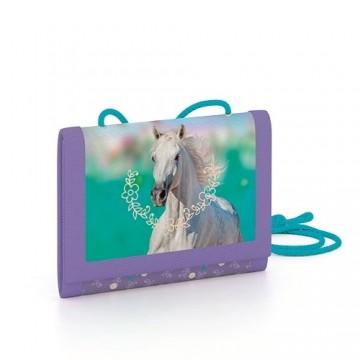 Detská textilná peňaženka kôň