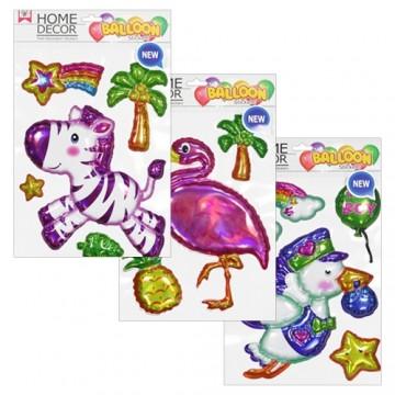 Nálepky - Ballon, mix 11 dizajnov