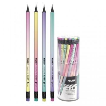 Ceruzka MILAN guľatá HB s gumou Sunset
