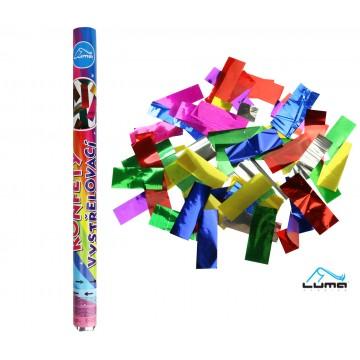 Konfety vystreľovacie 60cm fóliové farebné LUMA