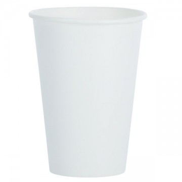Papierový pohár 210 ml/10 ks Biely/text