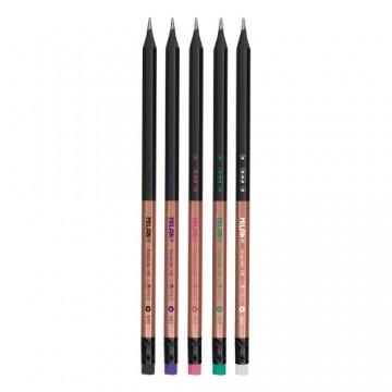 Ceruzka MILAN šesťhranná HB s gumou Copper