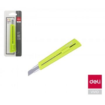 Nôž 126mm odlamovací DELI E2038 zelený