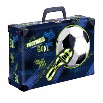 Kufrík lamino hranatý okovaný futbal
