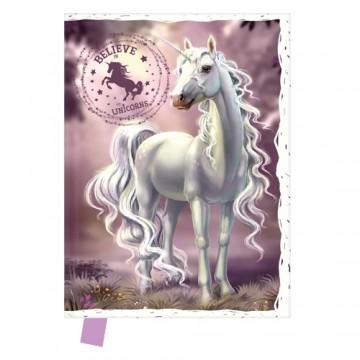 Pamätník 14x18 cm, 80 l., čistý - Believe in Unicorns