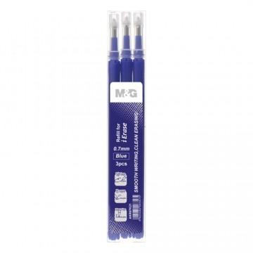 Náplň gumovacia M&G iErase V 0,7 mm/3 ks - modrá