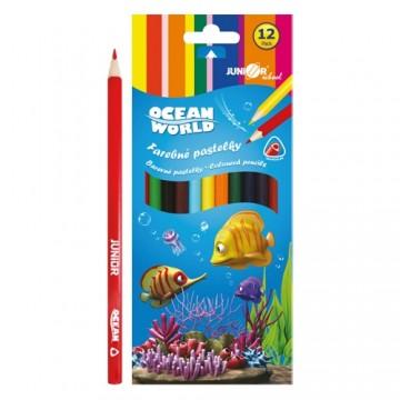 Pastelky Ocean World trojhranné 12 ks